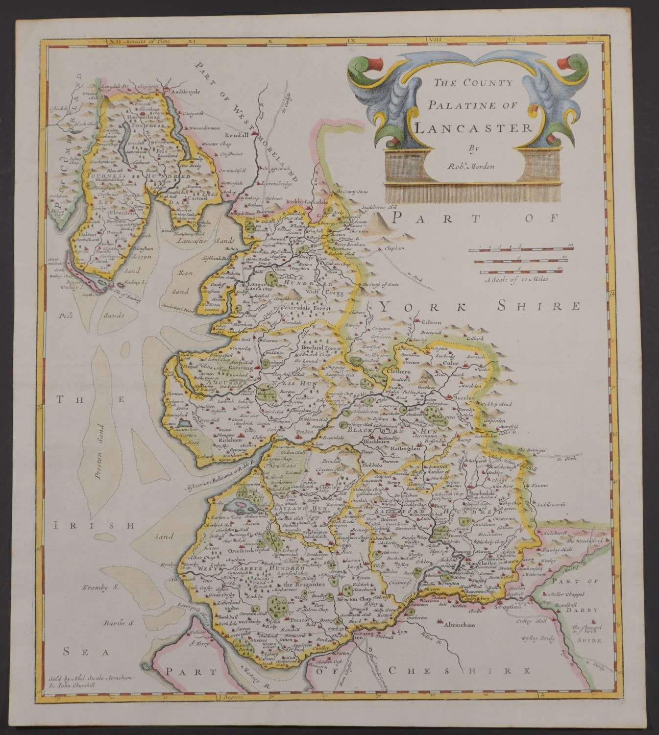 The County Palatine of Lancaster (Lancashire) by Robert Morden