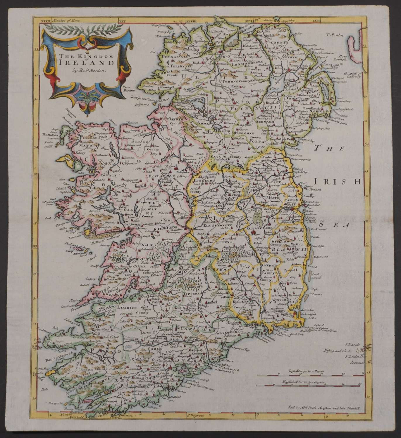 The Kingdom of Ireland 1st edition. by Robert Morden