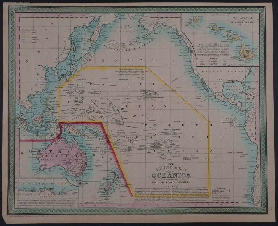 The Pacific Ocean including Oceanica by Thomas Cowperthwait