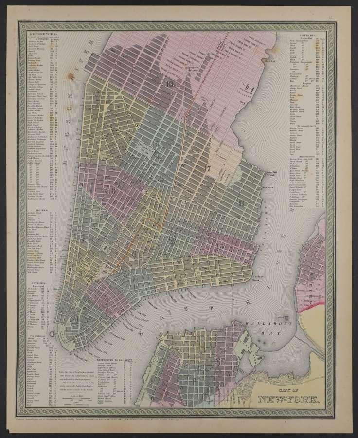 City of New-York by Thomas Cowperthwait & Co