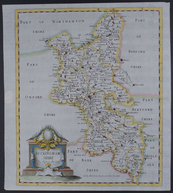 Buckinghamshire. 1st edition 1695 by Robert Morden