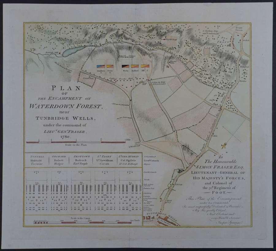 Plan of the Encampment on Waterdown Forest by Jasper Sprange
