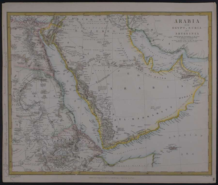 Arabia with Egypt, Nubia and Abyssinia, SDUK