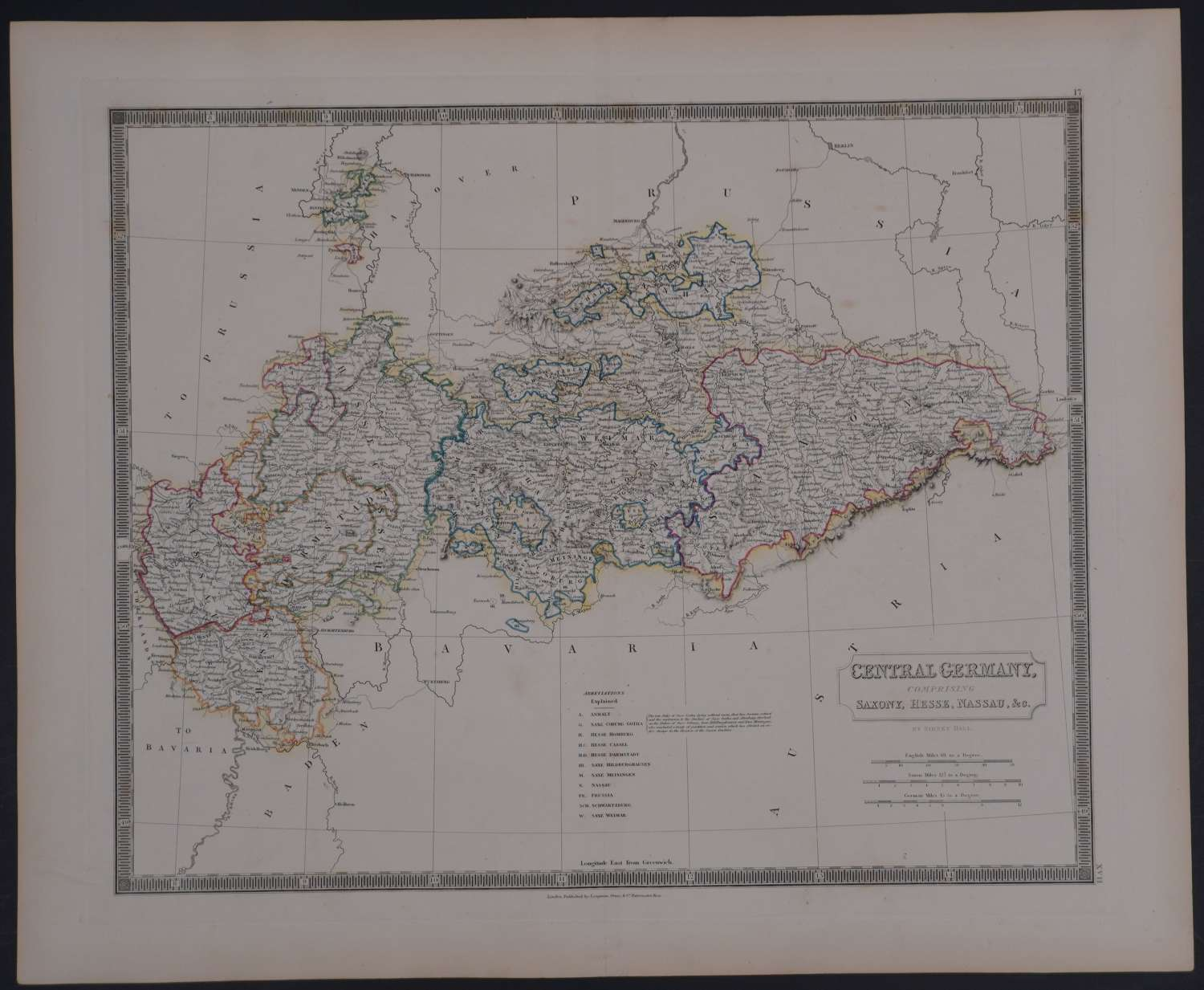 Central Germany comprising Saxony, Hesse, by Sidney Hall