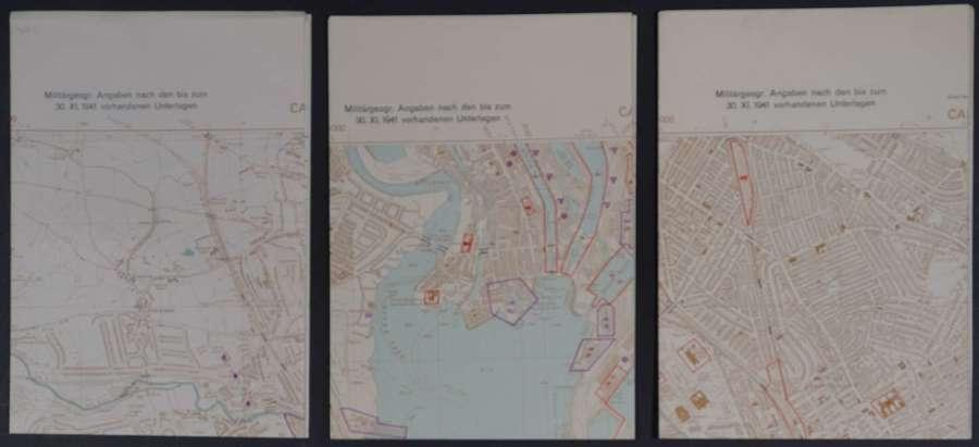 Cardiff Operation Sealion/Map des Ordnance Survey 1:10 560