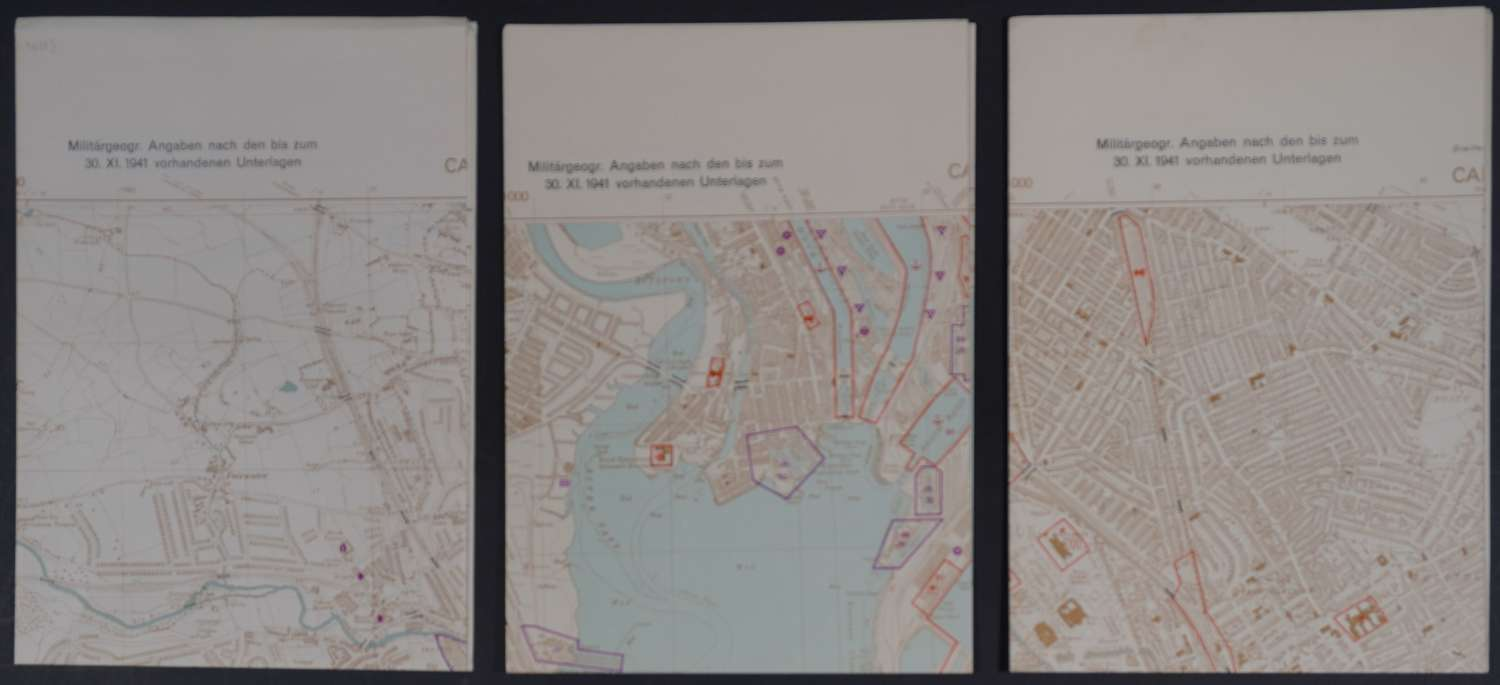 Cardiff Operation Sealion/Map des Ordnance Survey 1:10 560
