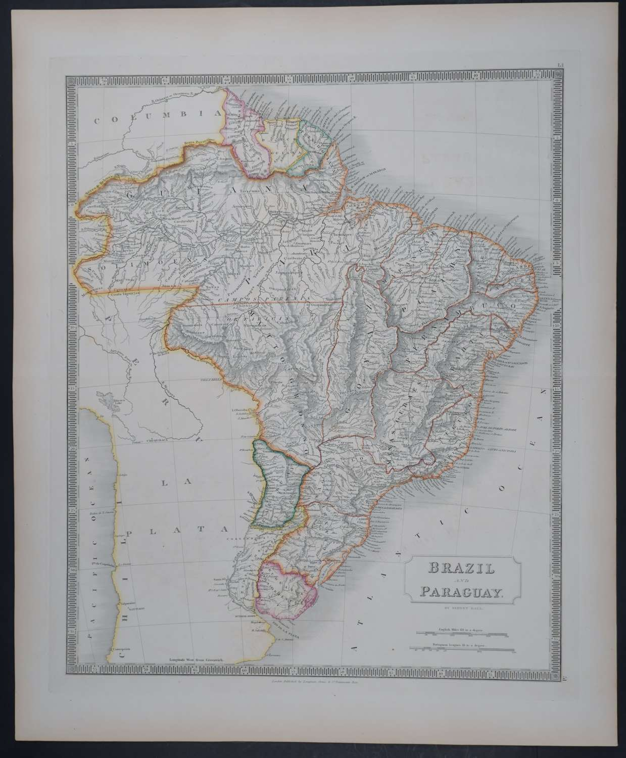 Brazil and Paraguay by Sidney Hall