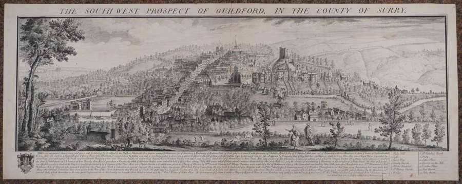 The South West Prospect of Guildford by Samuel & Nathaniel Buck,
