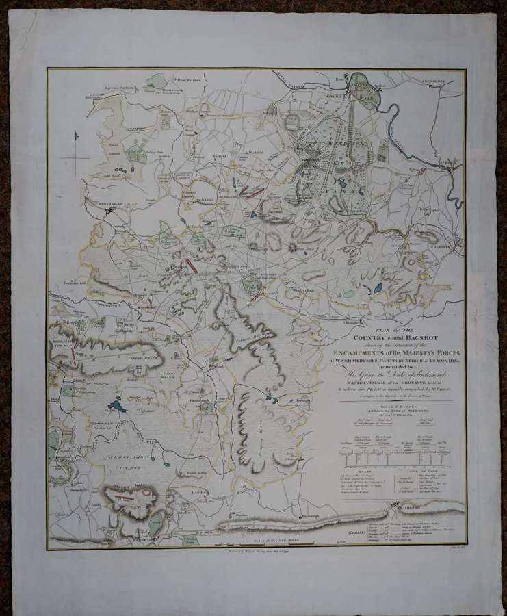 Plan of the Country round Bagshot by William Faden