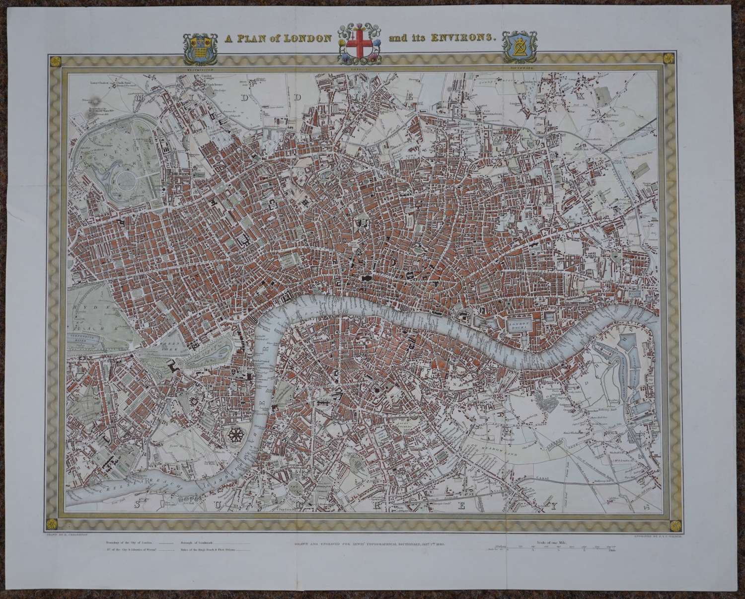A Plan of London and its Environs by Richard Creighton