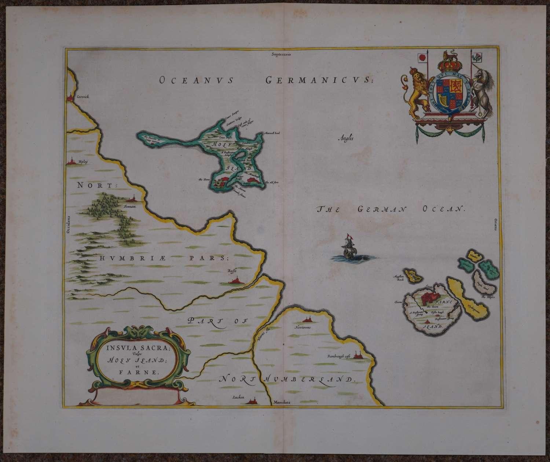 Insula Sacra; Vulgo Holy Iland; Et Farne by Johannes Blaeu