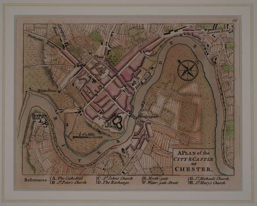 A Plan of the City and Castle of Chester by Andrew Dury